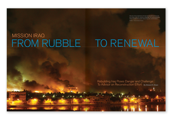 Featured Article - Mission Iraq From Rubble to Renewal